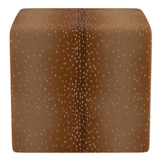 Cube Ottoman in Antelope For Sale