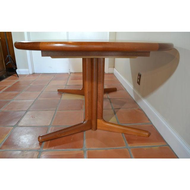 E. Valentinsen Danish Teak Expandable Dining Table For Sale - Image 5 of 10
