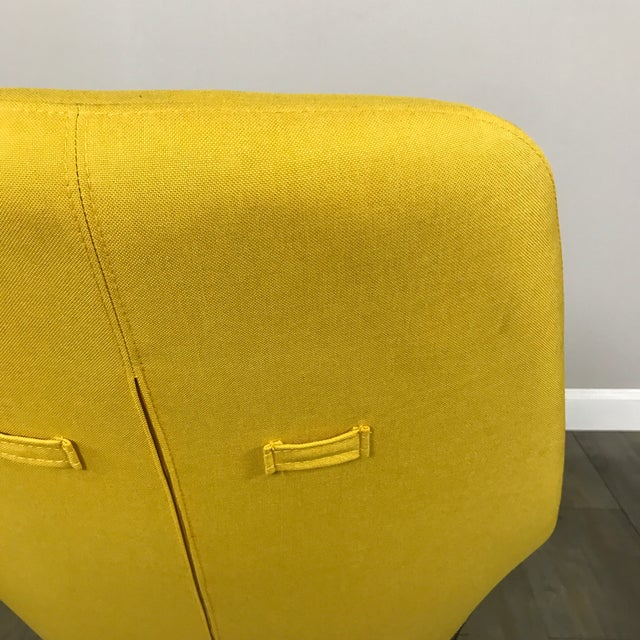 modani modern yellow lounge chair chairish