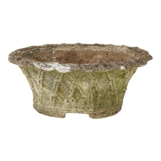Oval Basket Weave Planter For Sale
