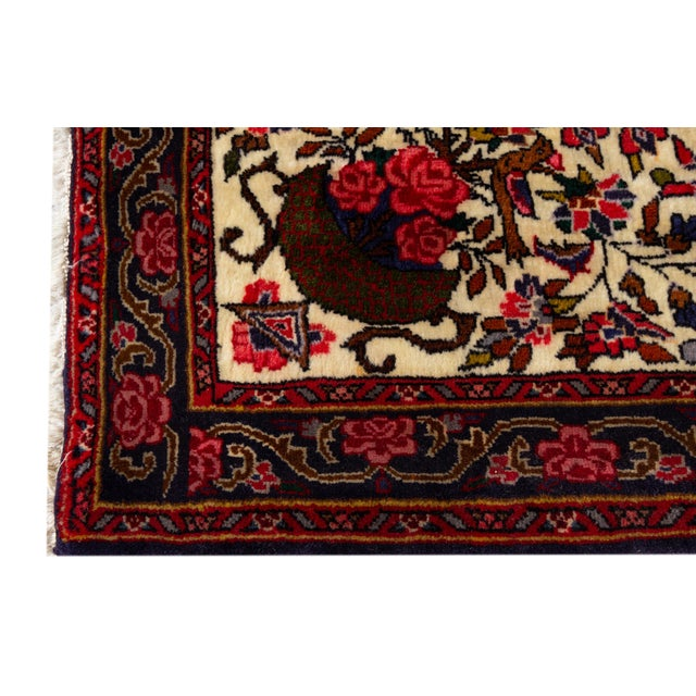 """1960s Vintage Persian Rug, 2'7"""" X 3'6"""" For Sale - Image 5 of 6"""