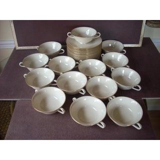 1990s Lenox Soup Bowls & Under Plates - Set of 28 Preview