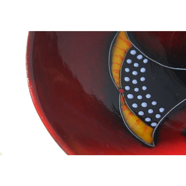 Ceramic Mid Century Italian Modern Melior Enamel Bowl For Sale - Image 7 of 11
