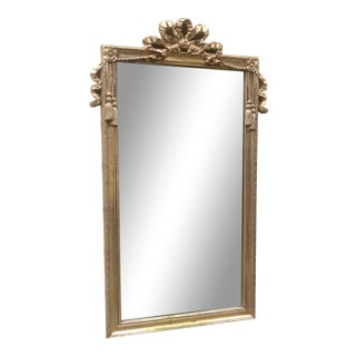 1980s Neoclassical Style Gold Wall Mirror For Sale