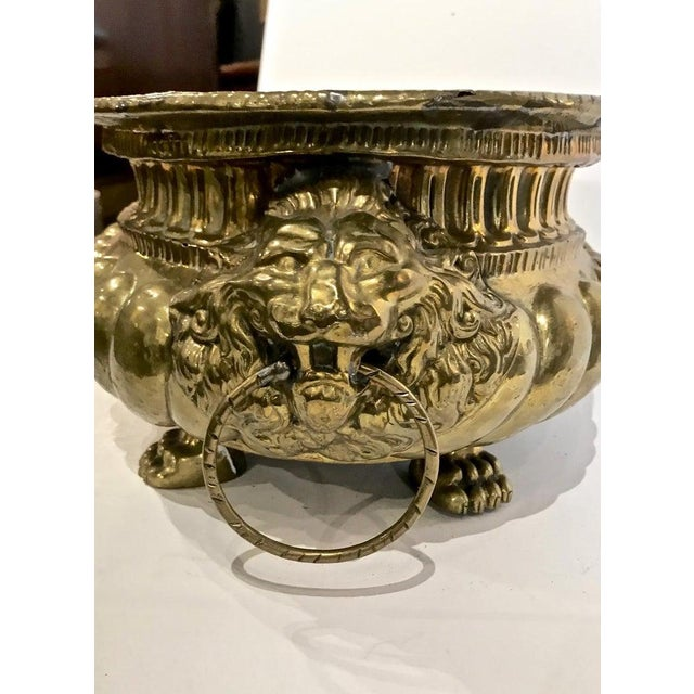 Neoclassical 19th Century Brass Planter For Sale - Image 3 of 8