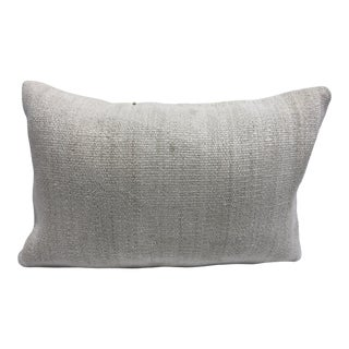 Antique White Organic Turkish Handmade Decorative Sofa Pillow Cover For Sale