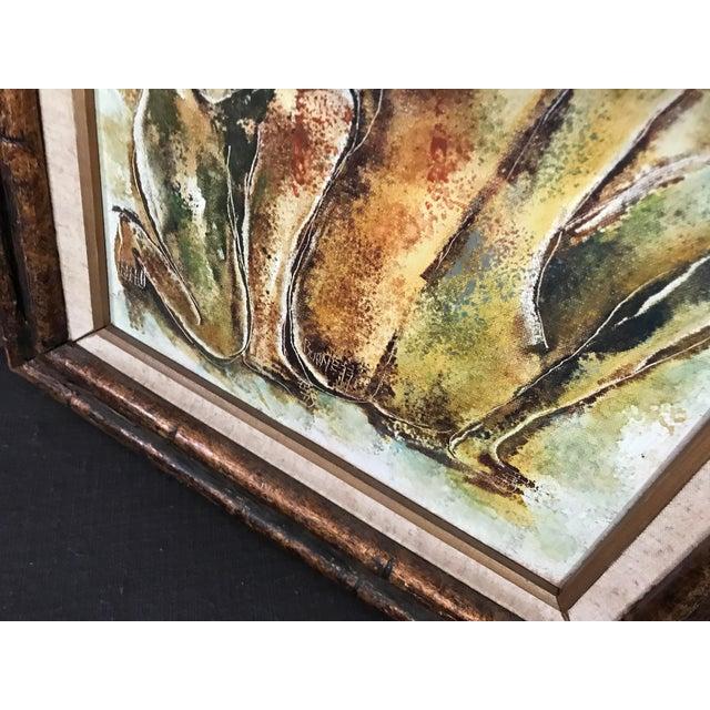 Black Original Calvin Waller Burnett Oil Painting For Sale - Image 8 of 9