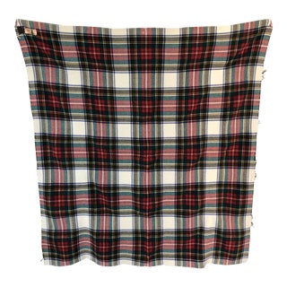 Vintage Plaid Throw Blanket For Sale