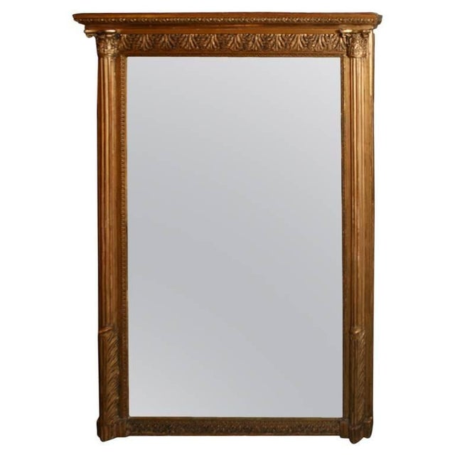 Giltwood Louis XVI Style Mirror For Sale - Image 10 of 10