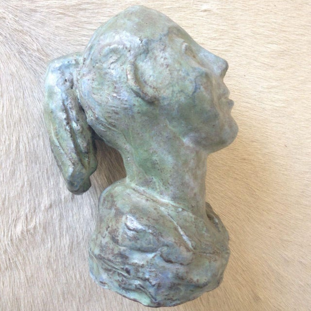 1956 Bust Sculpture of Girl - Image 4 of 8