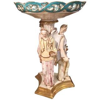 Rare Antique Copeland Porcelain Figural Centerpiece W Three Angels For Sale