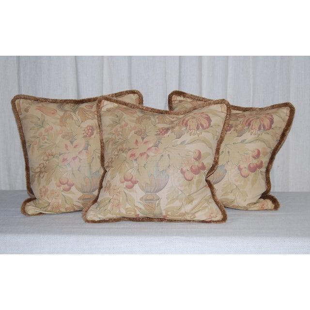 Vintage Bennison Fabric Pillows - Set of 3 - Image 2 of 4