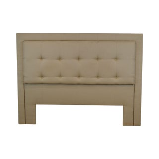 Custom Upholstered Tufted King Size Headboard For Sale