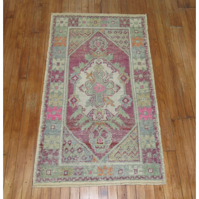Shabby Chic Vintage Turkish Rugs - a Pair - 2'8'' x 4'8'' For Sale - Image 3 of 9