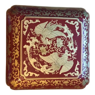 Chinese Dragon Imperial Red Large Box For Sale
