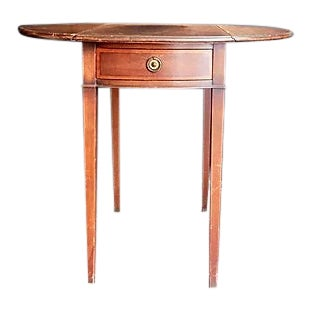 Antique Traditional Soulful Side Table For Sale
