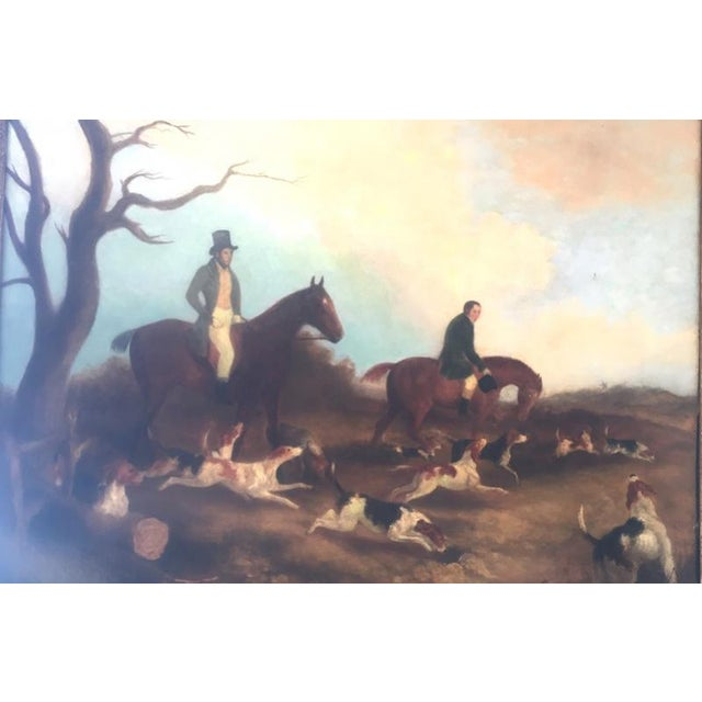 English Hunt Scene Painting For Sale - Image 4 of 6