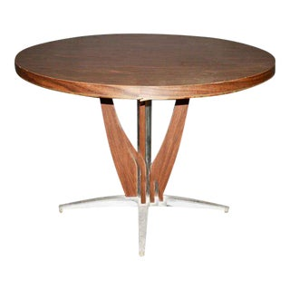 Mid-Century Modern Cast Aluminum Base Dining Table