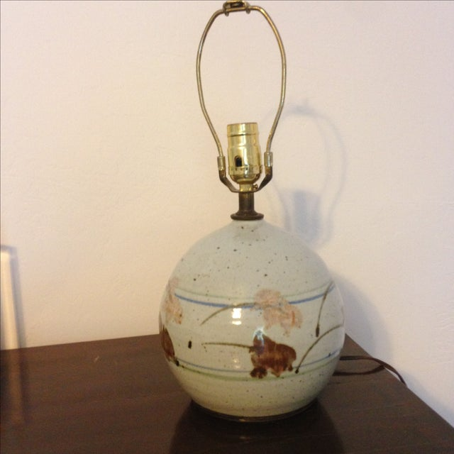 Mid-Century Modern Ceramic Lamp - Image 2 of 8