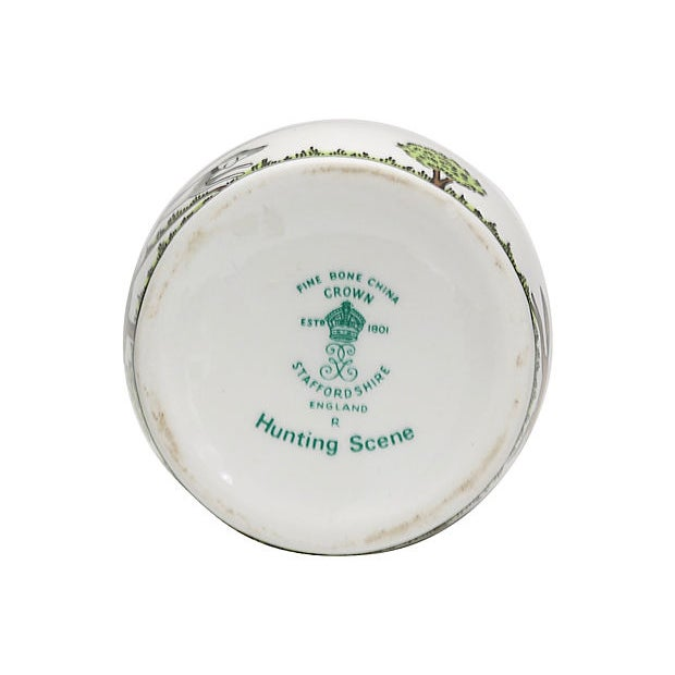 Crown Staffordshire English Hunting Scene Bud Vase For Sale - Image 4 of 5