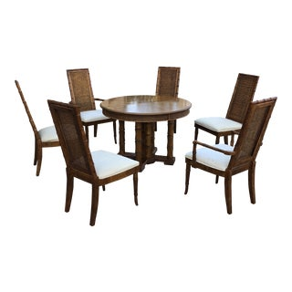 1970s Asian American of Martinsville Bamboo Dining Set For Sale