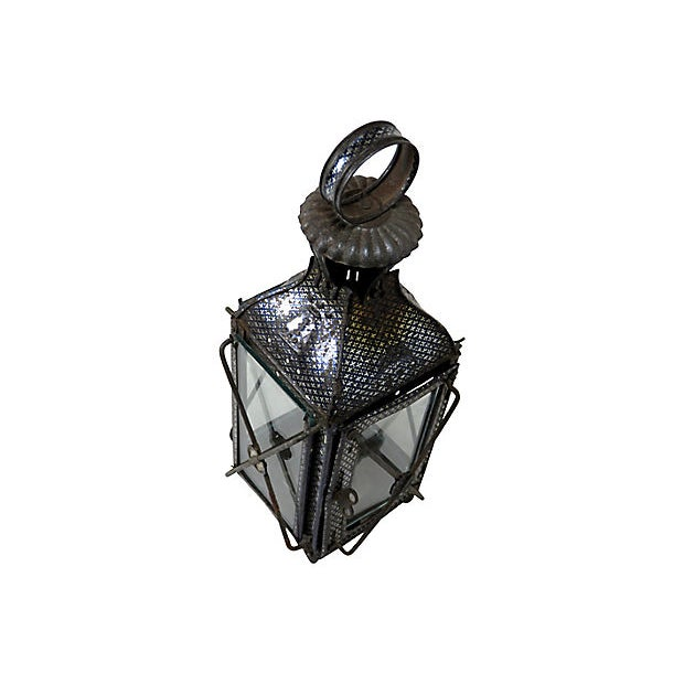 Mid 19th Century 1880s Antique Tin Candle Lantern For Sale - Image 5 of 6