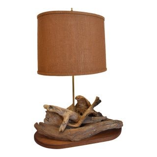 1960s Drift Wood Lamp For Sale