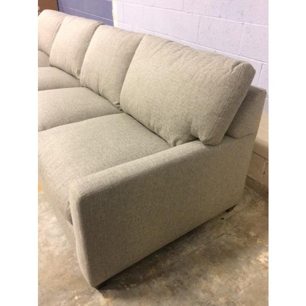 Contemporary Lee Industries Custom Sectional For Sale - Image 3 of 7