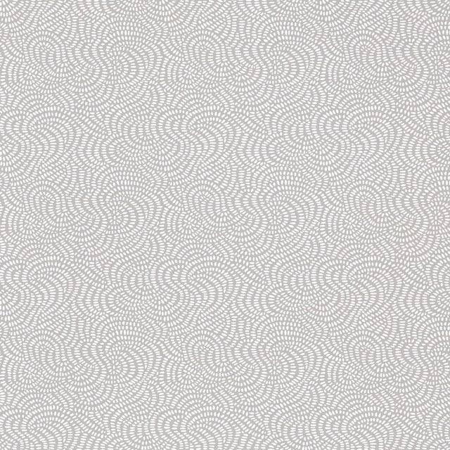 Boho Chic Sample - Schumacher Whirlpool Wallpaper in Mist For Sale - Image 3 of 3