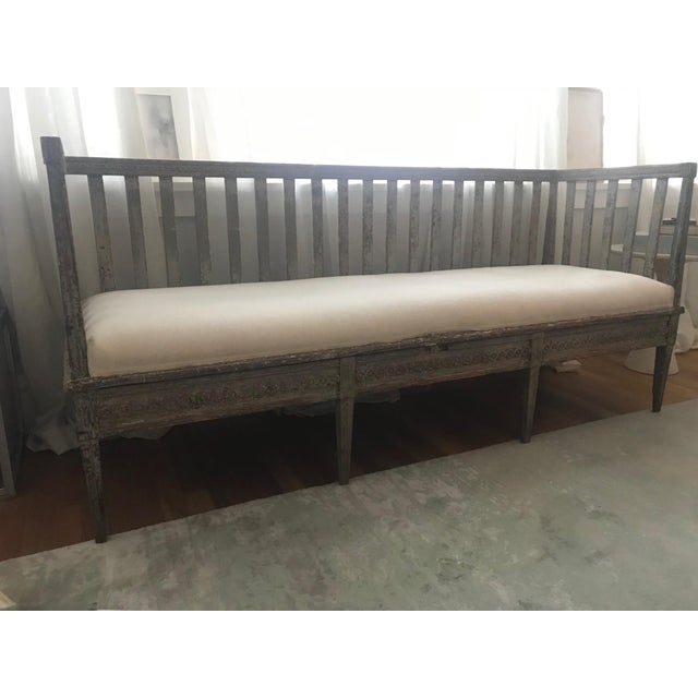 Early 19th Century Vintage Gustavian Bench For Sale - Image 13 of 13