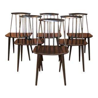 Folke Palsson for Fdb Mobler Mid Century Model J77 Chairs Circa 1971 For Sale