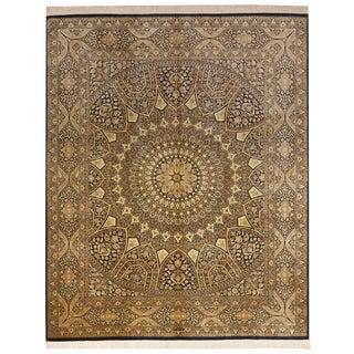 "Persian Silk Ghom Rug - 6'6""x 8' For Sale"