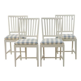 1950s Gustavian Leksand Chairs - Set of 4 For Sale