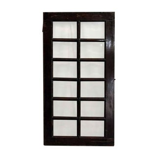 Beveled Glass 12-Panel Window For Sale