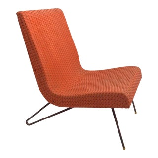 Wicker Scoop Chair Attributed to Lloyd Loom For Sale