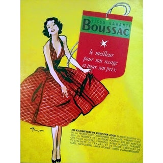 Pierre-Laurent Brenot 1958 Boussac Fabrics Advertisement For Sale
