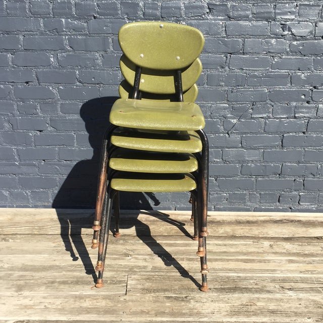 Mid-Century Metal Kids Chairs - Set of 4 - Image 5 of 5