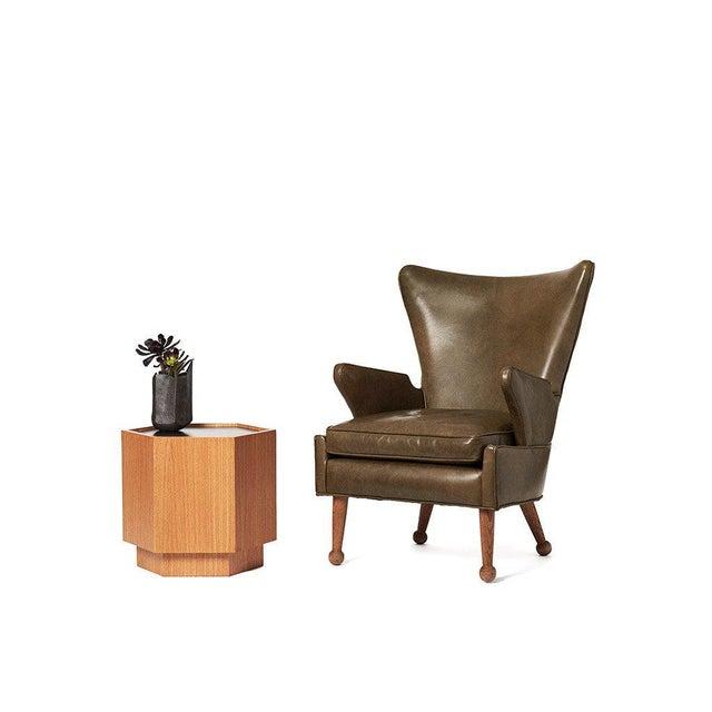 SABIN Sabin Oak Hexagon Vallejo Table For Sale - Image 4 of 5