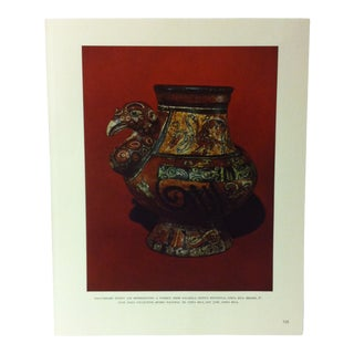 """Circa 1960 """"Polychrome Effigy Jar Representing a Turkey"""" Treasures of Ancient America Mounted Print For Sale"""