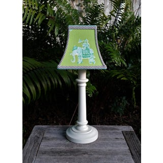 Green Lilly Pulitzer Fabric Clip on Coastal Elephant Lampshade Preview