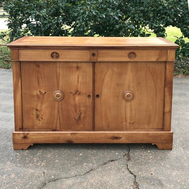 Mid 19th Century 19th Century French Louis Philippe Cherry Wood Buffet For Sale - Image 5 of 11