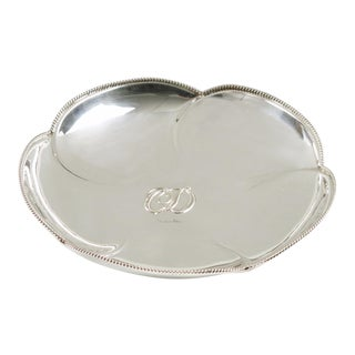 Christian Dior Home Collection Silver Plate Ring Holder Display Serving Bowl For Sale