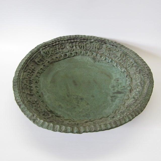 Large Ceramic Green Bowl - Image 3 of 11