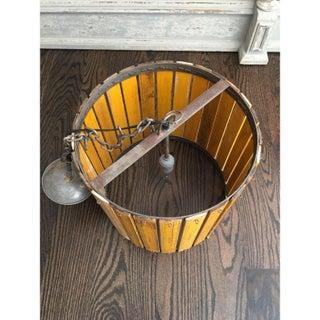 Mid-Century Rustic Wooden Ruler Light Fixture Preview