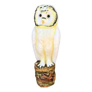 Mid-Century Ceramic Owl Floor Sculpture For Sale