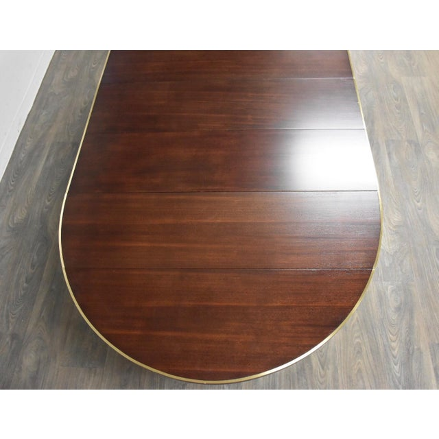 Paul McCobb Paul McCobb Mahogany and Brass Dining Table For Sale - Image 4 of 13