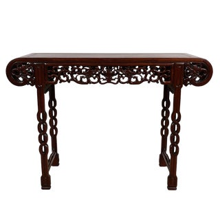 20th Century Chinese Carved Rosewood Altar Table/Entry Console For Sale