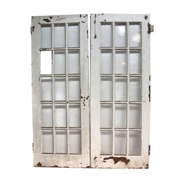 French Glass Pane Doors A Pair Chairish