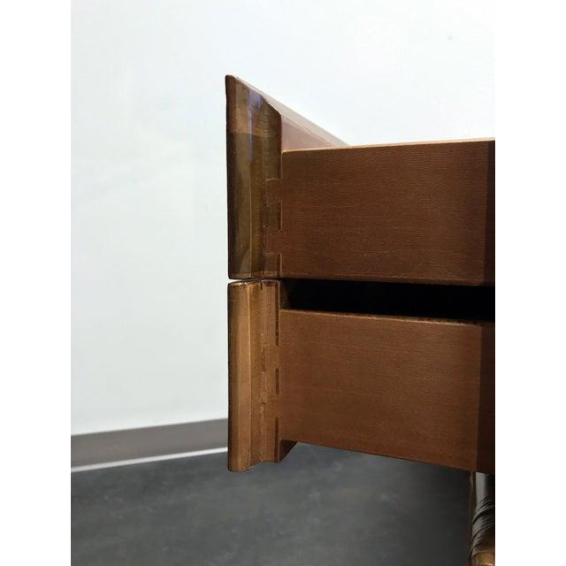Vintage Refurbished Henredon Bamboo Rattan Double Pedestal Desk For Sale - Image 11 of 13