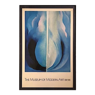 1980s Framed Georgia O'Keefe Poster For Sale